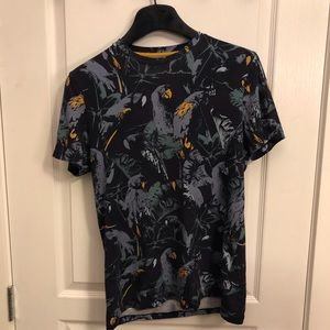 Ted baker BEAKME parrot print t shirt XS